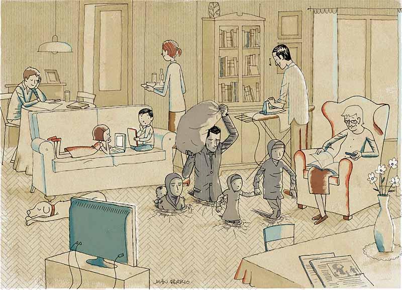 Ilustración de Juan Berrio. Imagen cortesía de APIV.