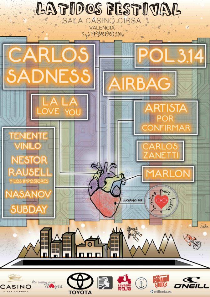 Cartel del III Latidos Festival. Imagen cortesía de Casino Cirsa.