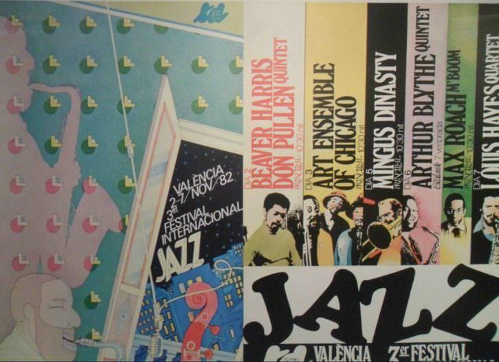 Cartel de la exposición 'Valencia Jazz' en el Centro Cultural Bancaja.