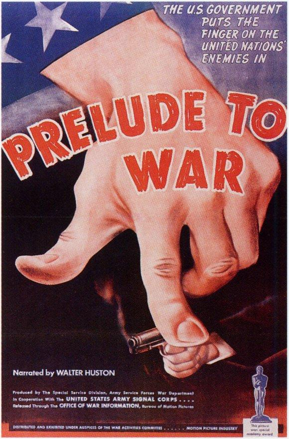 Cartel de 'Why we fight I: Prelude to war', de Frank Capra. Imagen cortesía de la Filmoteca de Valencia.
