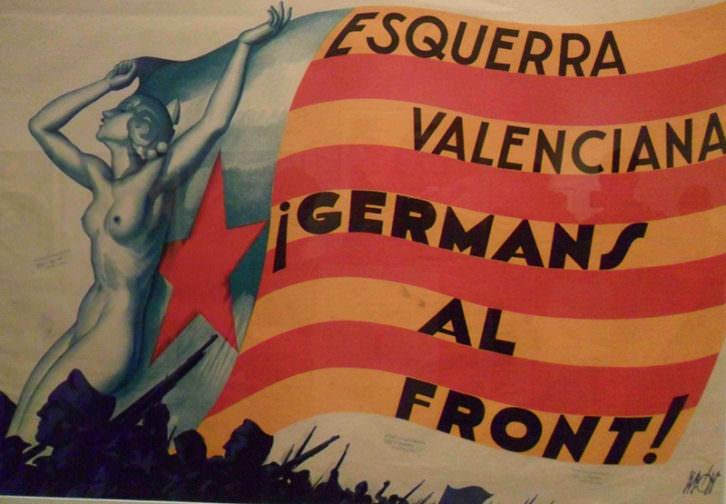 Uno de los carteles de la exposición 'La modernidad republicana en Valencia', en el MuVIM.