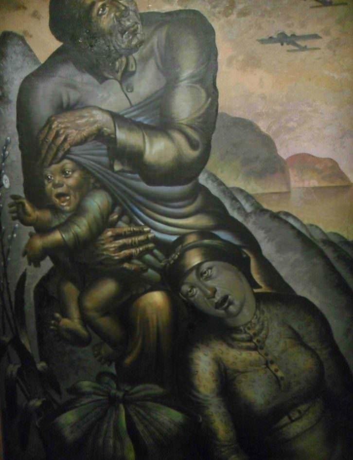Obra de Eleuterio Bauset, en la exposición 'La modernidad republicana en Valencia', en el MuVIM.