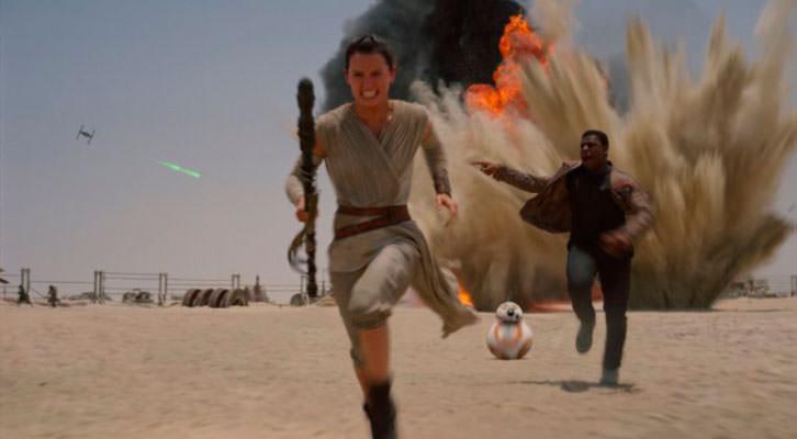 Fotograma de la última película de Star Wars.