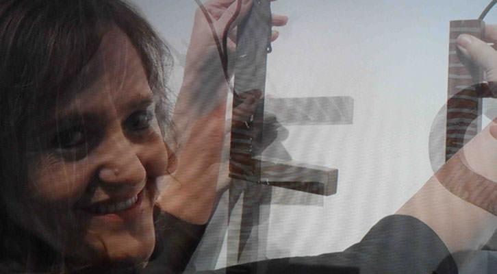 Victoria Cano en un video de su exposición en el Centro del Carmen.