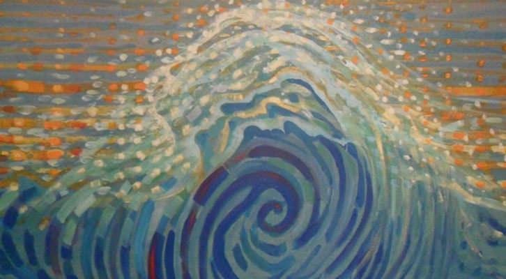 Obra de Victoria Cano en la Sala Ferreres del Centro del Carmen.