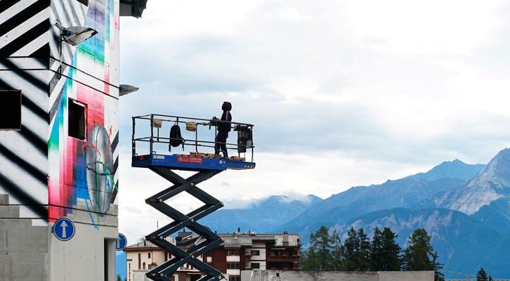 Felipe Pantone, Kinetic Mundi, Frans-Montana Suiza. Cortesía del artista.