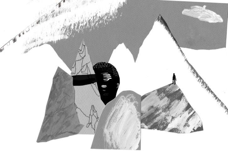 Ilustración de Claudia Torán . 'Subir hacia abajo', de Daniel Torán. Cortesía del autor.