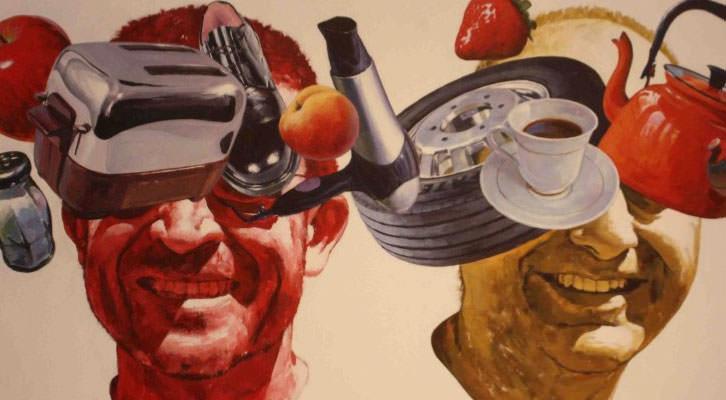 Reality blinds you, de Carlos Saura en 'Crónicas del No-Tiempo'. Museo de Arte Contemporáneo 'El Mercado'. Foto: Begoña Siles.