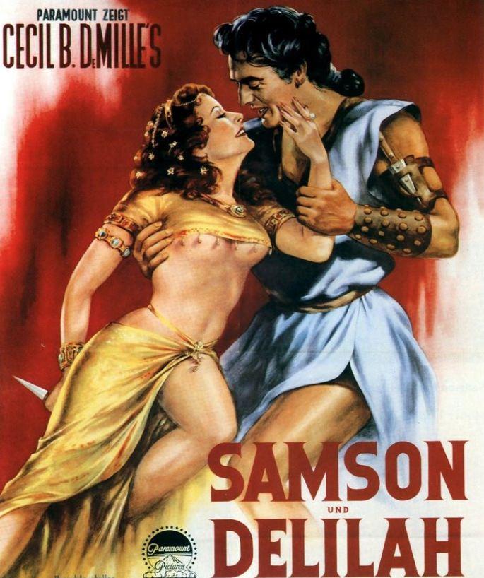 Cartel de 'Sansón y Dalila', de Cecil B. DeMille. Imagen cortesía de la Filmoteca de Valencia.