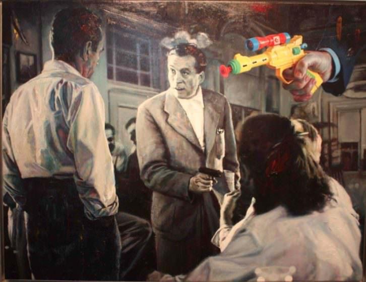 The Drama (Key Largo), de Carlos Saura en 'Crónicas del No-Tiempo'. Museo de Arte Contemporáneo 'El Mercado'. Foto: Begoña Siles.
