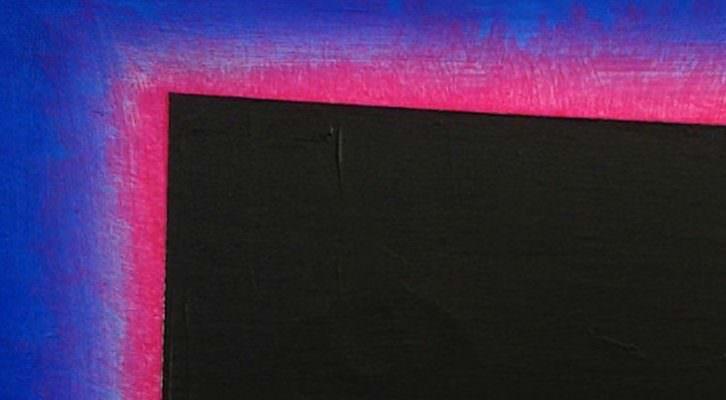 José María Yturralde, Eclipse.1995-1996. Acrílico sobre lienzo. 16 x 24. Cortesía de Ars Citerior.