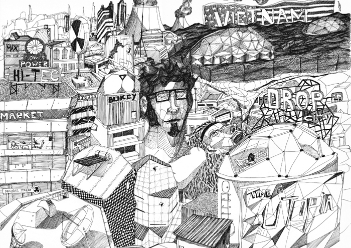 Drop City, de Duarte Encarnaçao. Imagen cortesía de Gris Magatzem d'Art.