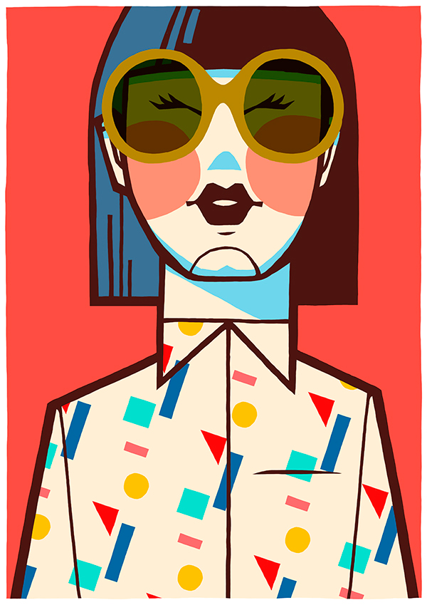 Ilustración de Jorge Lawerta, diseñador del cartel de La Cabina 2016.