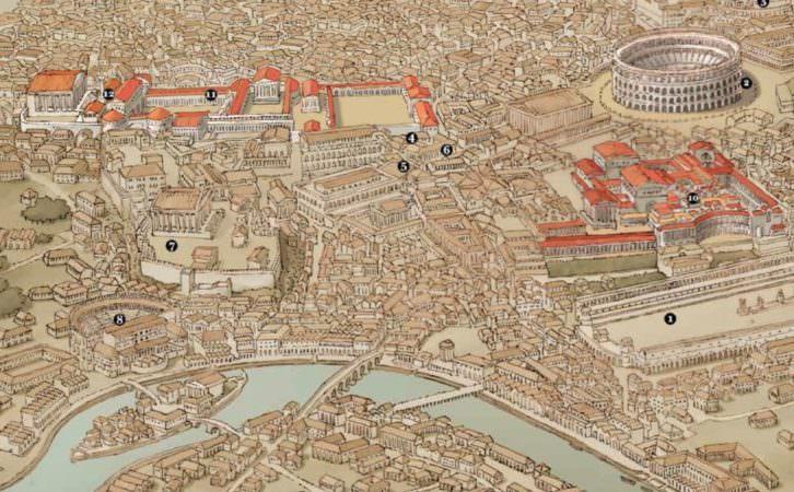 Detalle de uno de los mapas incluidos en 'La legión perdida', de Santiago Posteguillo.