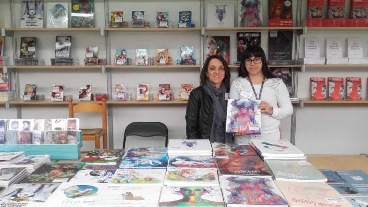 Regina Sanz y Estefanía Saura, de Ediciones Babylon. Fotografía: Jose Ramón Alarcón.
