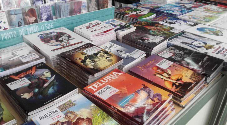 Una selección de títulos de Edicones Babylon presentes en la 51ª Feria del Libro. Fotografía: Jose Ramón Alarcón