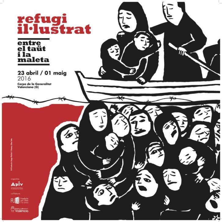 Cartel de la exposición 'Refugio ilustrado'. Fotografía cortesía de APIV.