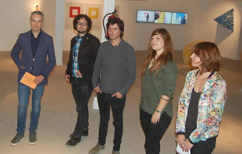 De izquierda a derecha, José Luis Pérez Pont, nuevo director del Consorcio de Museos, Daniel Simón, Daniel Jordán, Alejandra de la Torre y Mariam Gilabert.