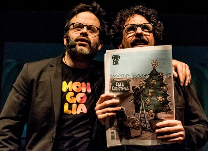 Darío Adanti y Edu, de la revista Mongolia, en InCultura Fest. Fotografía: Nadia Tosi.