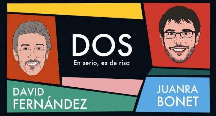 Cartel de la obra 'Dos', de Iria Producciones. Imagen cortesía de Teatro Talía de Valencia.