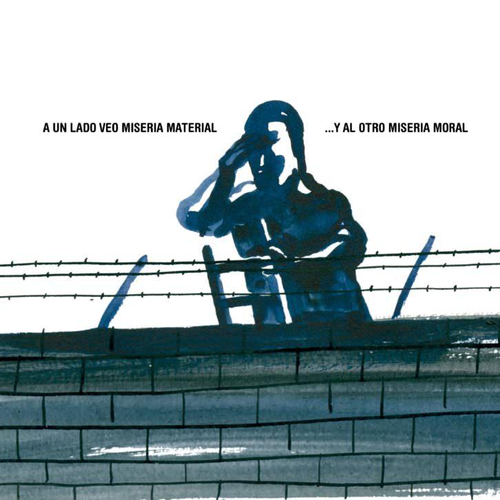 Ilustración de Enrique Flores, participante en la exposición 'Refugio ilustrado'. Fotografía cortesía de APIV.