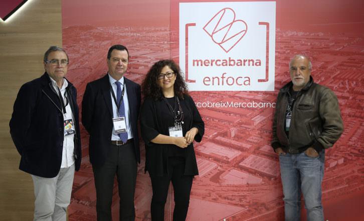 Un instante de la rueda de presna de Mercabarna Enfoca, con Chema Conesa, Josep Tejedo, Tania Castro y David Airob. Fotografía cortesía de los organizadores.