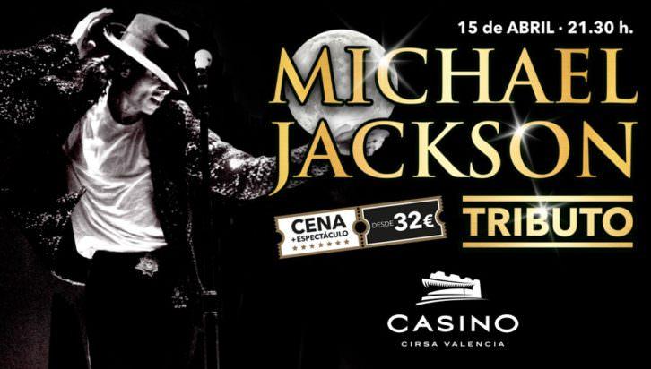 Cartel del tributo a Michael Jackson. Cortesía de Casino Cirsa.