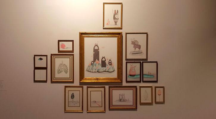Obras de Agente Morillas en galería Pepita Lumier. Fotografía: Nacho López Ortiz.
