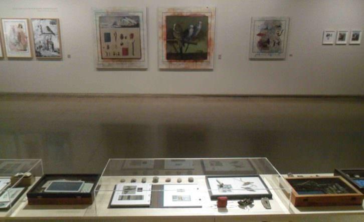 Vista general de la exposición de Nuria Rodriguez en el Colegio Mayor Rector Peset.