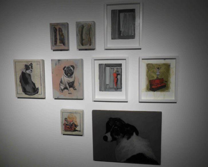 Conjunto de obras de Nuria Rodriguez en el Colegio Mayor Rector Peset.