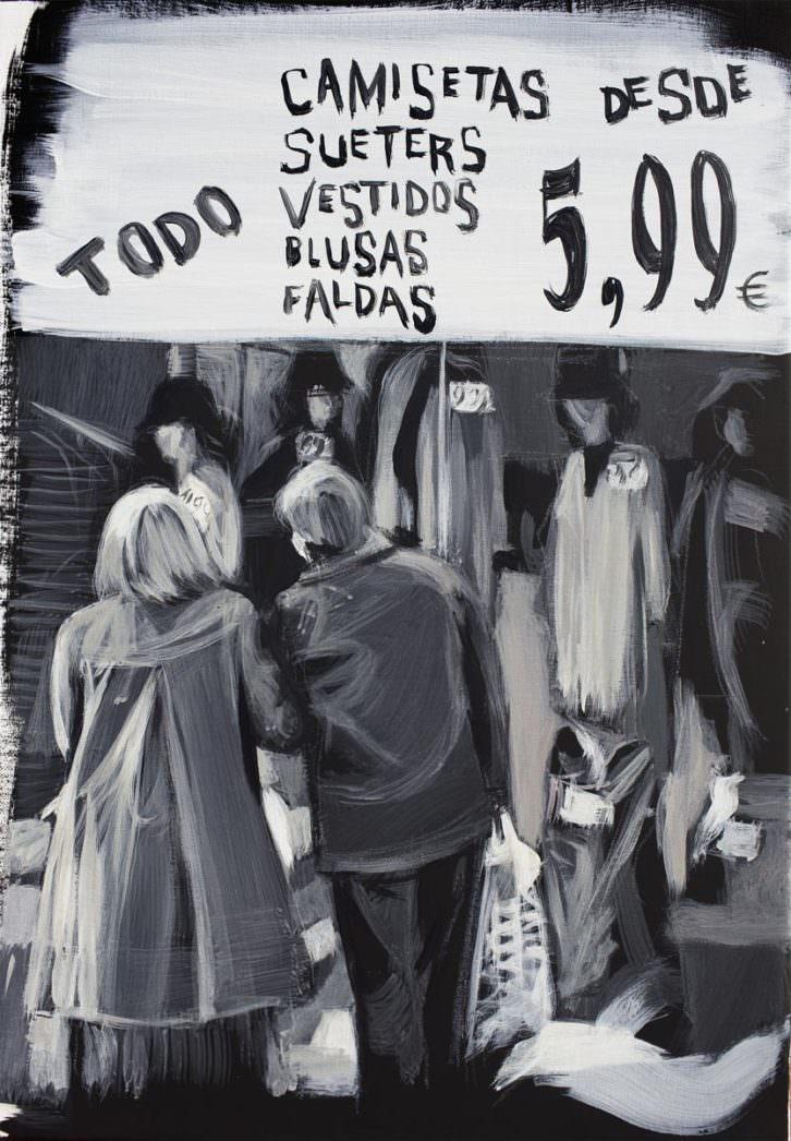 'Saldos', 2016, Luis Lonjedo. Imagen cortesía de la galería.