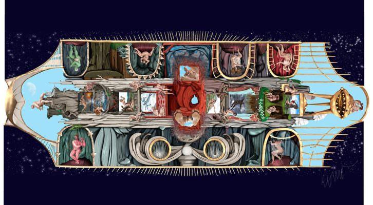 Instantánea de una de las obras pertenecientes a la exposición. Fotografía cortesía de Kir Royal Gallery.