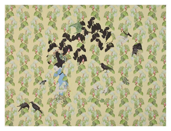 Los cuervos que adoraban a la mujer, de Estefanía Martín Sáenz. Imagen cortesía de la Bienal Martínez Guerricabeitia.