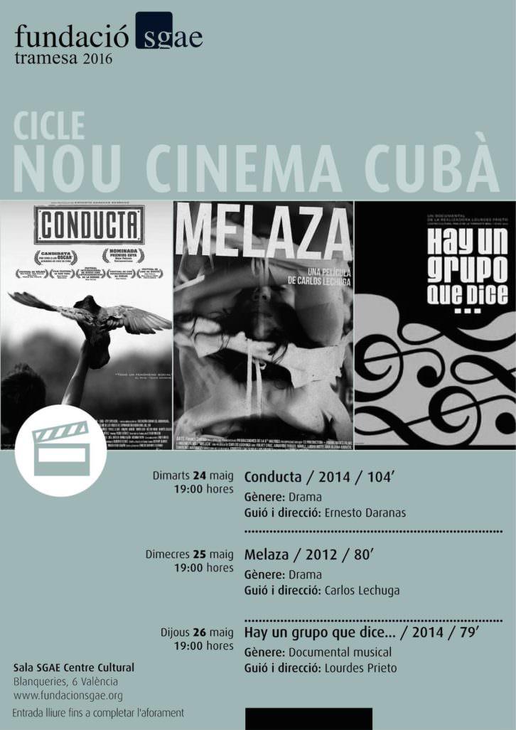 Cartel del ciclo Nuevo Cine Cubano.