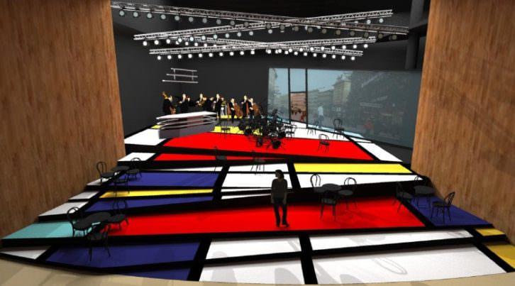 Escena de 'Café Kafka', de Francisco Coll. Palau de les Arts.