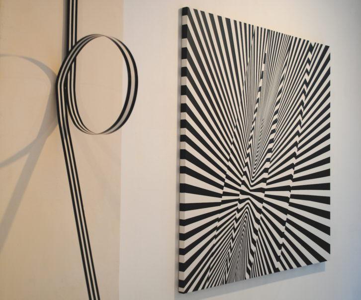 Una de las obras que forman parte de la exposición. Fotografía: María Ramis.