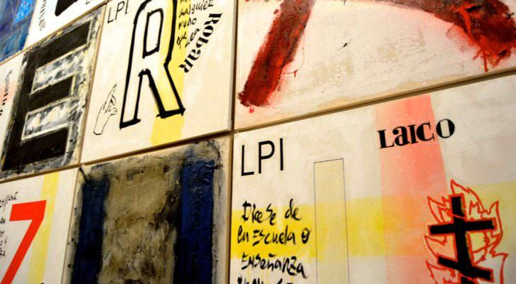 Detalle de la obra 'Las palabras incorrectas' (2004), de Bascuñán y Company. Fotografía: Jose Ramón Alarcón.