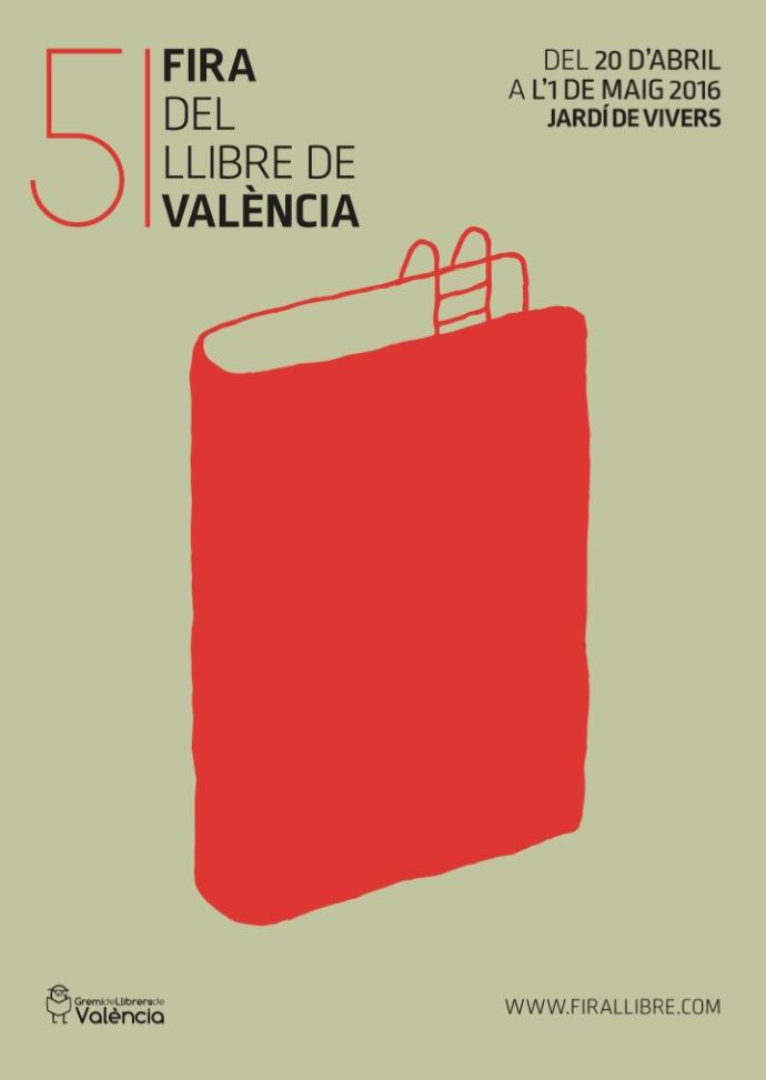 Cartel de la Fira del Llibre de 2016 obra de Nacho Casanova. Centro del Carmen.