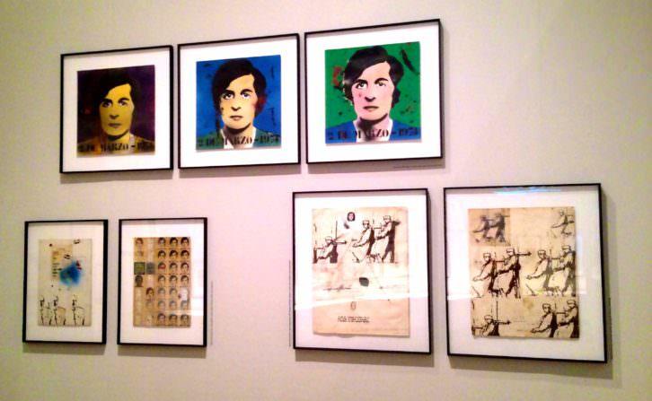 Imagen de alguna de las obras pertenecientes a las serie sobre Salvador Puig Antich. Fotografía: Jose Ramón Alarcón.