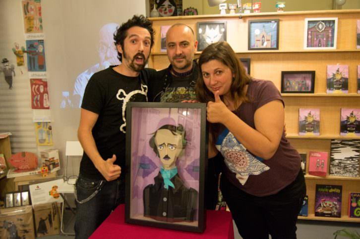Jack Mircala junto a Javier Caro y Lorena Riestra.