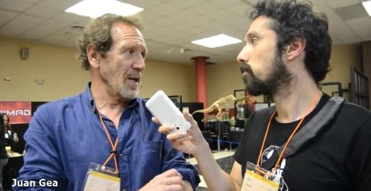 Juan Gea, durante la entrevista realizada por Javier Caro.