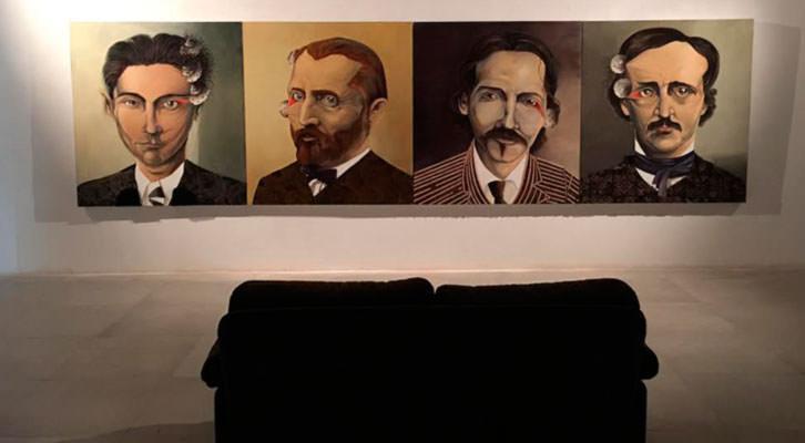 Vista de la exposición de Quique Marzal. Imagen cortesía de Mr. Pink