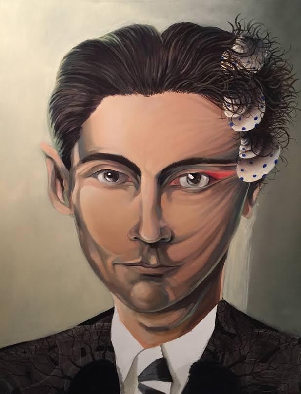 Franz Kafka, por Quique Marzal. Imagen cortesía de Galería Mr. Pink.