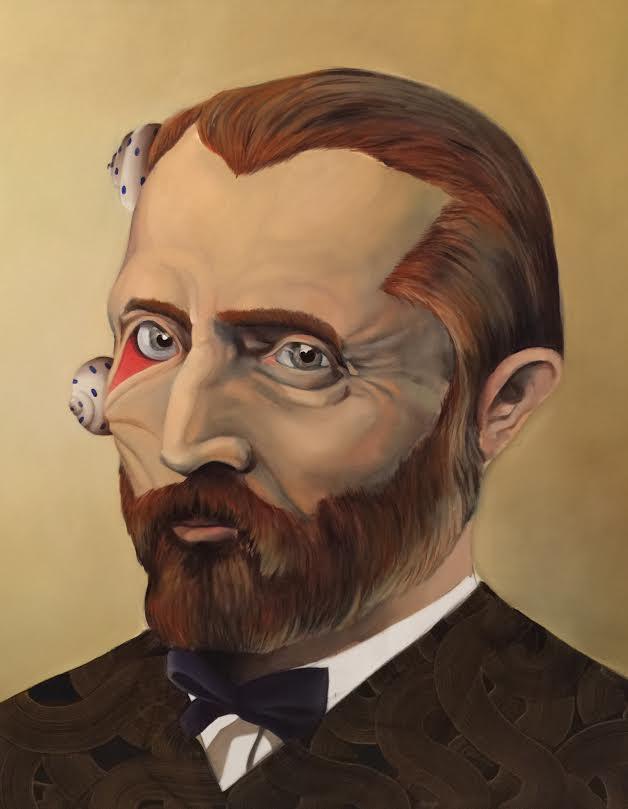 Vincent Van Gogh, por Quique Marzal. Imagen cortesía de Galería Mr. Pink.