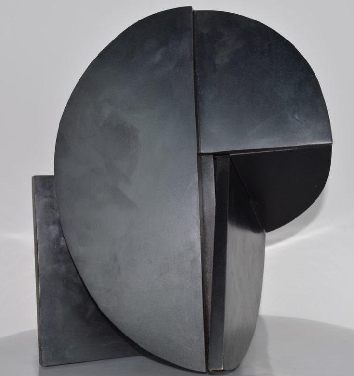 Imagen de la obra 'Máscara', de Rafael Canogar, presente en el stand de la galería madrileña Aleseide. Fotografía cortesía de los organizadores.