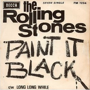 Portada del single Paint it black. (1966)