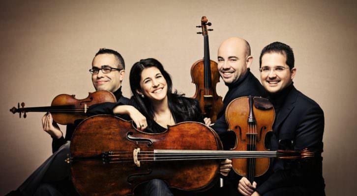 Imagen del cuarteto Quiroga, participante en la presente edición de Ensems. Fotografía: Josep Molina.