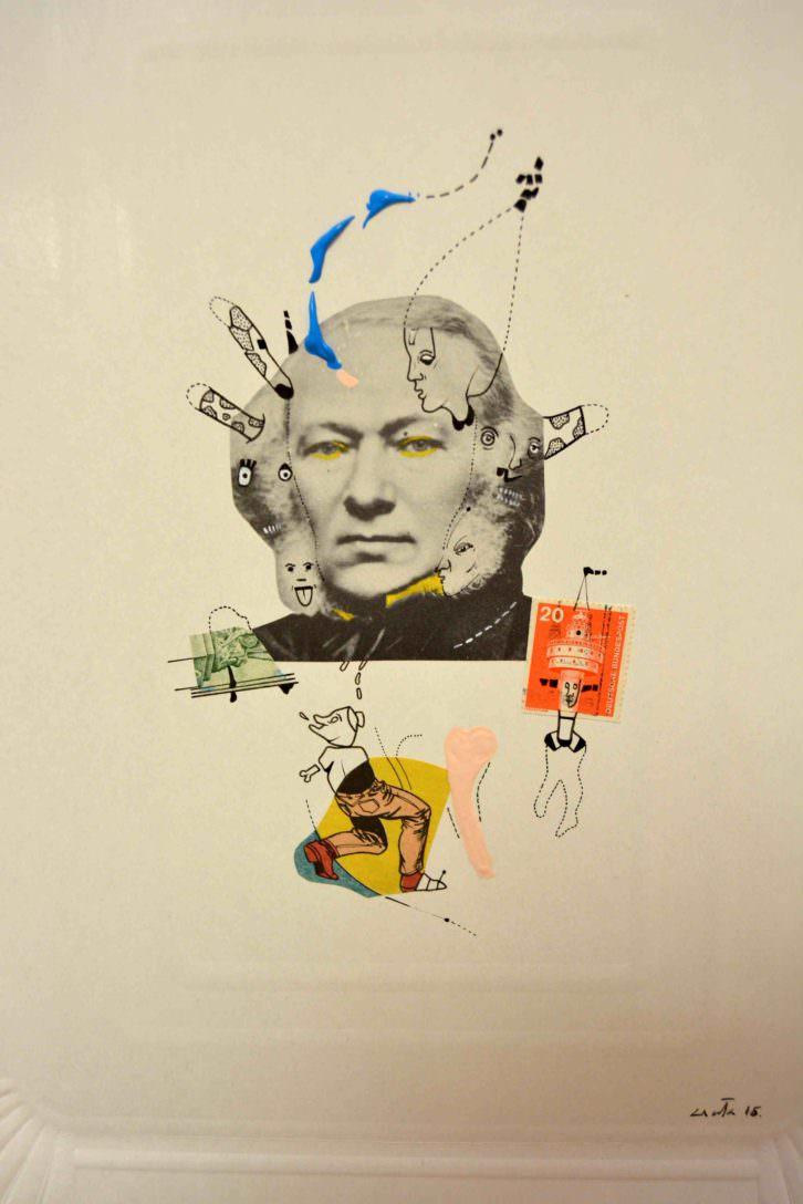 Obra perteneciente a la serie 'Mundo Bruto' expuesta en IMT, para Russafart. Fotografía: Jose Ramón Alarcón.
