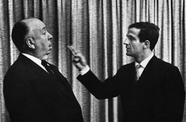 Alfred Hitchcock y François Truffatu. Imagen cortesía de la Filmoteca de Valencia.