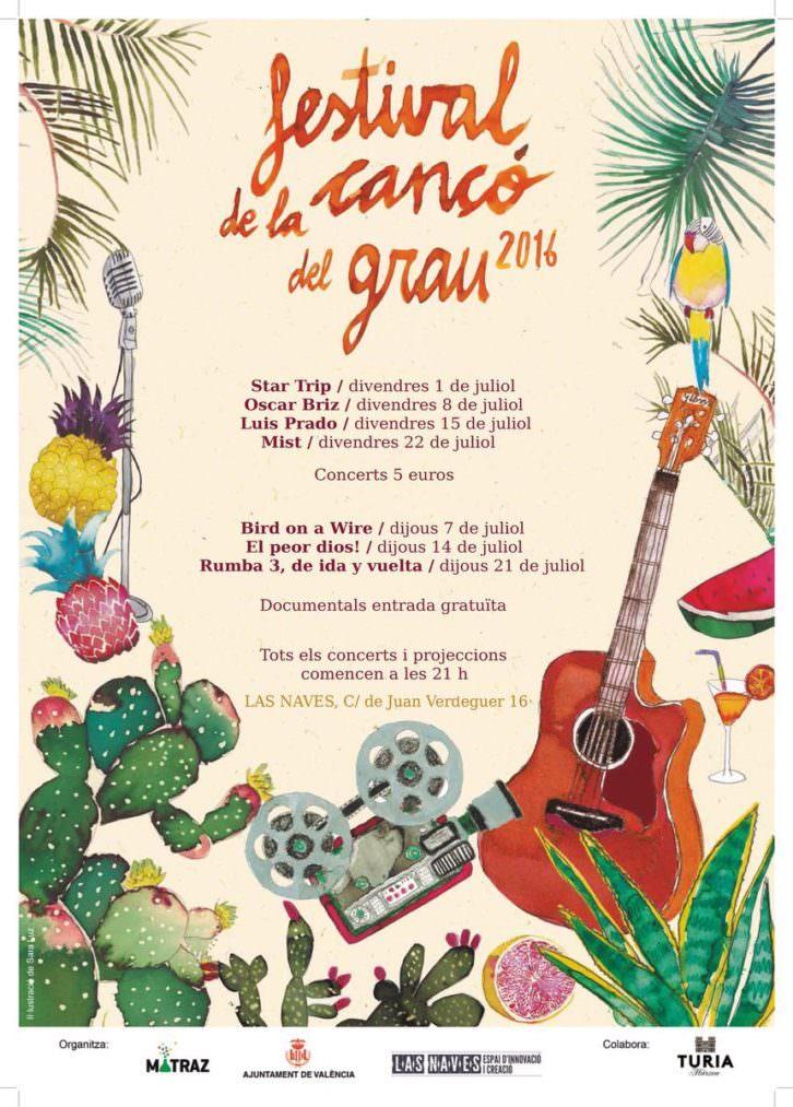 Cartel del Festival de la Cançó del Grau.